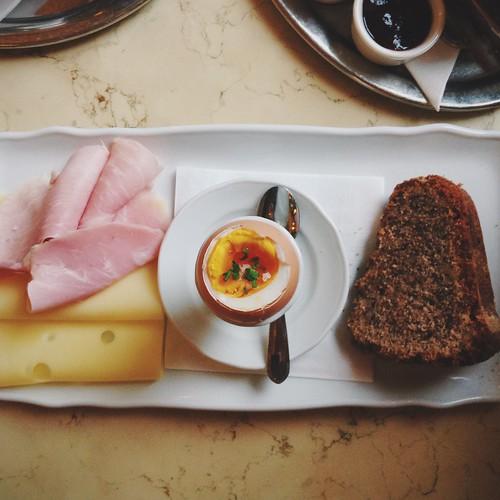 A delightful breakfast at Cafe Savoy in Prague.