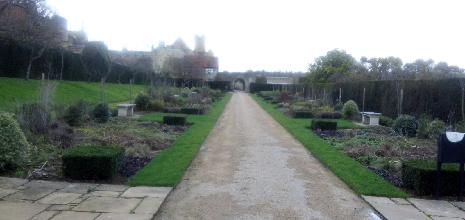 ''Attractive formal garden'' Penshurst Place