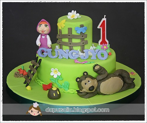 Masha and The Bear Birthday Cake