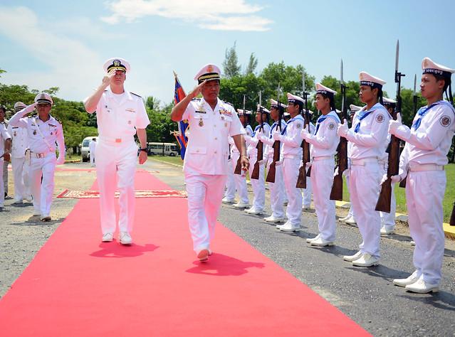 7th Fleet Commander Kicks off CARAT Cambodia 2014