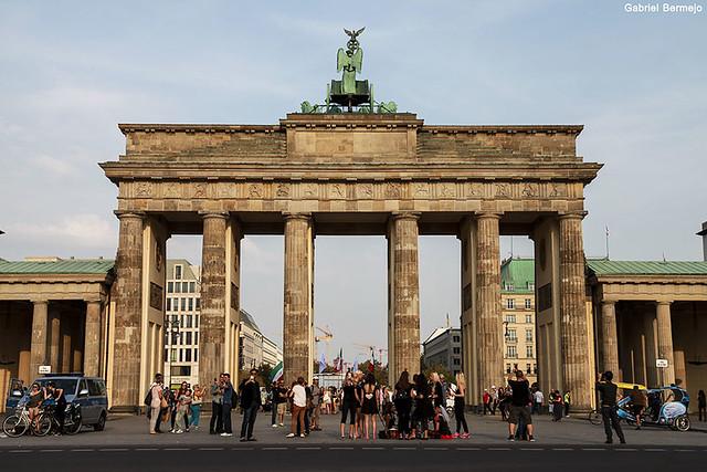 Puerta de Brandeburgo al atardecer - Berlin