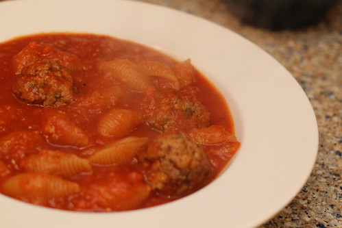 Chicken Meatball Tomato Soup
