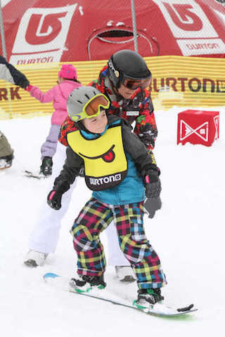 Kids can try out snowboarding in Riglet Park. (Boyne Highlands Resort)