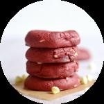 soft baked red velvet cream cheese cookie