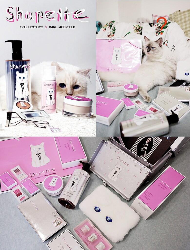 [限量彩妝Shupette] 最時尚的貓咪Choupette Lagerfeld X Shu Uemura's 2015聖誕彩妝