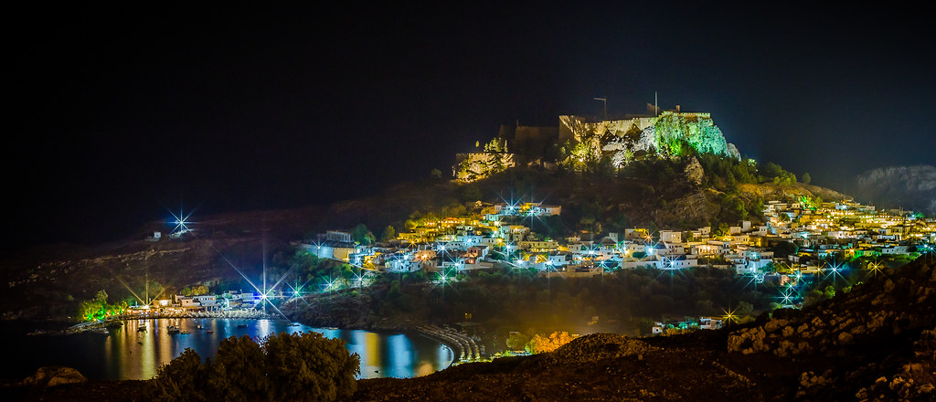 Lindos Magic At Night