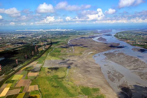 濁水溪奔流向海。圖片來源:雲林縣政府與農博團隊