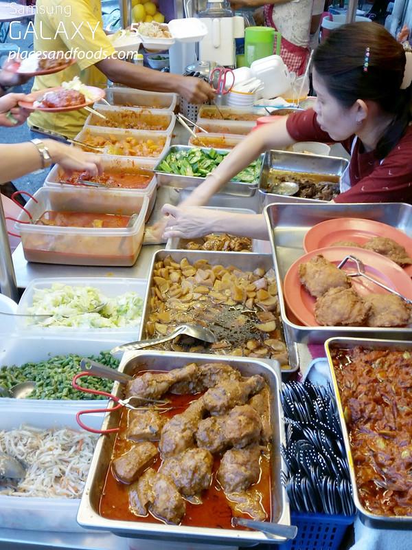 nasi lemak peel road stall food