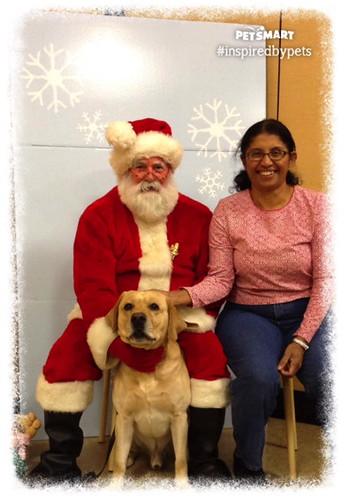Noah with Santa