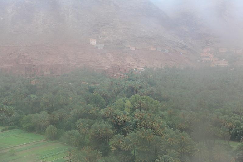 Rain in Todra Gorge