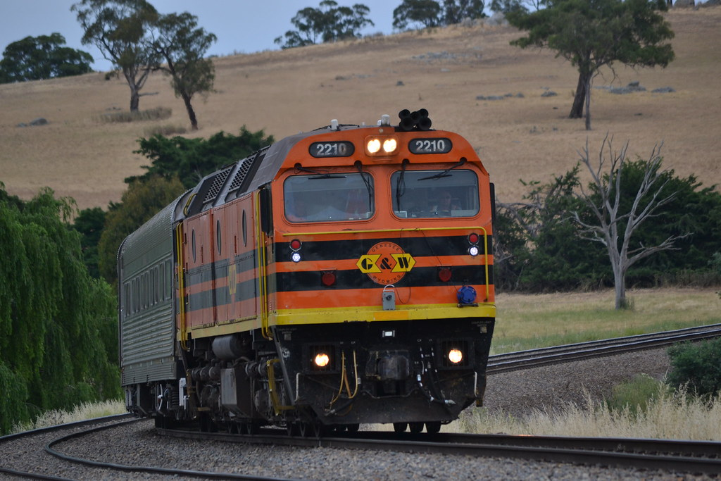 24.11.2014 - South of Gunning - 2210 on train SK 82 AK cars by Jeff