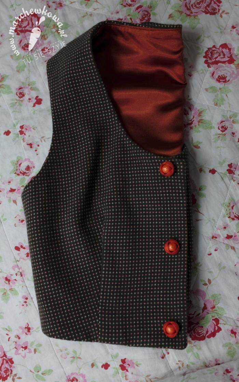 blog, marchewkowa, szycie, krawiectwo, sewing, burda, pattern, wykroje, kamizelka, spódnica, lata '60., 60s set, vest, skirt, retro, #126, Burda 10/2011, #108, Burda 12/2012, marchewkowa pracownia, tu się szyje