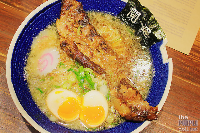 Signature Happiness Ramen (P480) + Aji Tamago (P50)