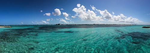 blue winter sky panorama water clouds eau turquoise hiver bleu ciel bahamas nassau nuages 2012