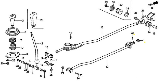 Jeep Cj7 Parts Diagrams likewise 96 Honda Accord Engine Diagram furthermore Honda Civic Shift Linkage Bushings moreover 2000 Land Rover Discovery Belt Diagram as well Category. on honda fit shifter