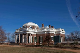Monticello on a winter's day