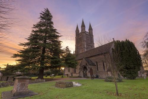 uk england church sunrise dawn wiltshire cricklade stsampsons