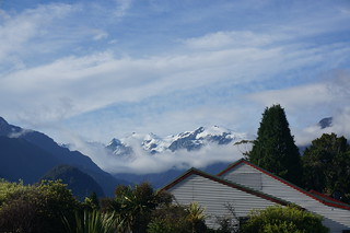 View of the Southern Alps from camp