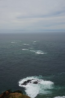 Swirling water where the Tasman Sea meets the Pacific