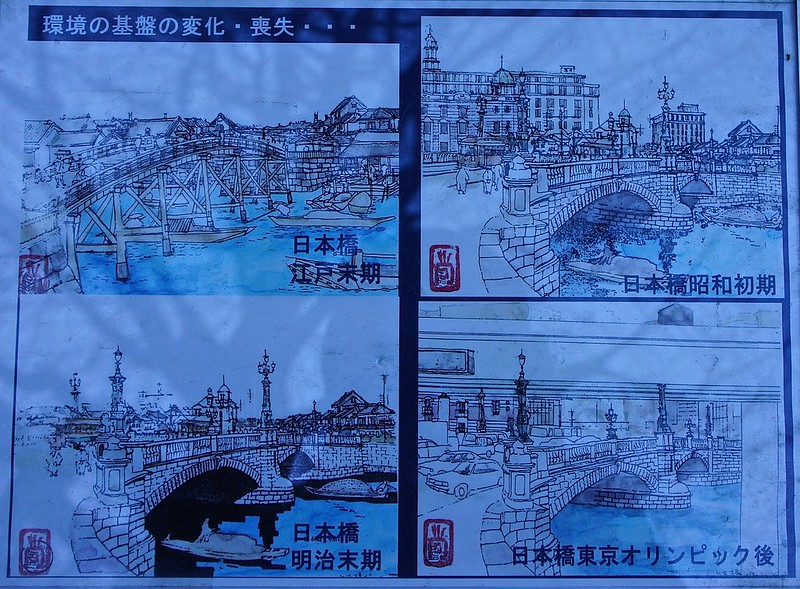 The old Nihonbashi and the transformation over the years