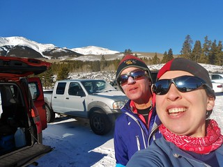 Helen and I at the South Elbert Trailhead