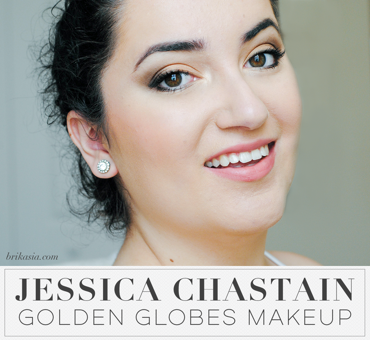 Jessica Chastain Golden Globes Makeup