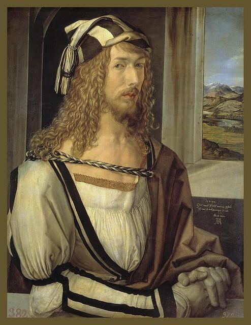 Albrecht Dürer, Autoretrat, 1498, oli sobre taula (2)