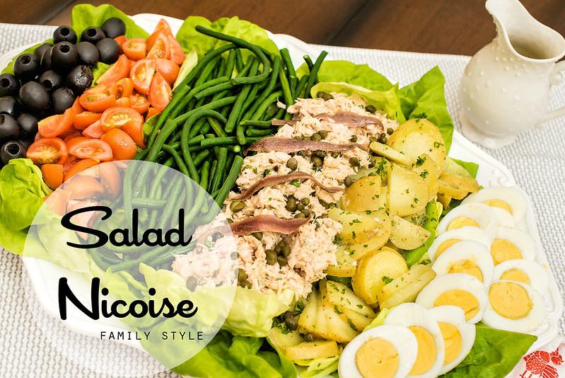 salad nicoise family style #BeeHealthy