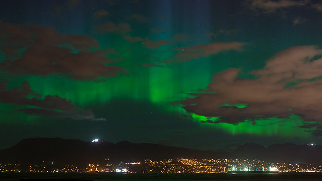 Northern Lights over Vancouver BC  [Mother Nature on Display on Mother's Day]
