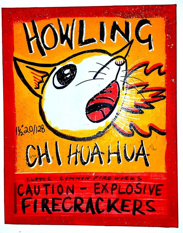 art howing chihuahua