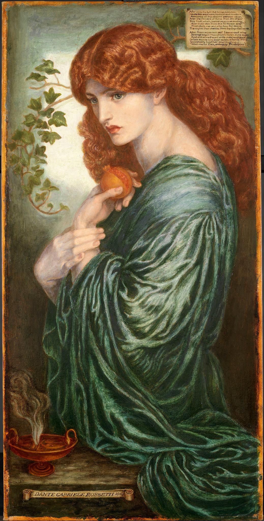 Proserpine by Dante Gabriel Rossetti, 1882