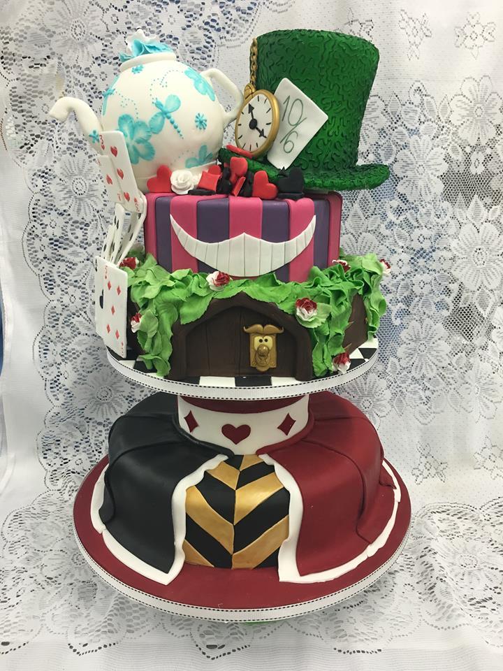 Alice in Wonderland Cake by Amie Jade Turner of Turners Cakes Shop in UK