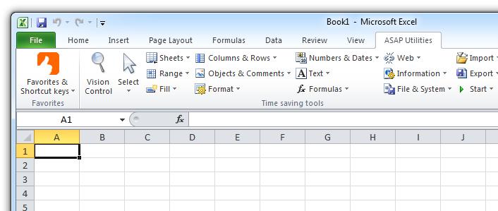 Asap Utilities 7.1 - Hỗ trợ các tiện ích trong Excel