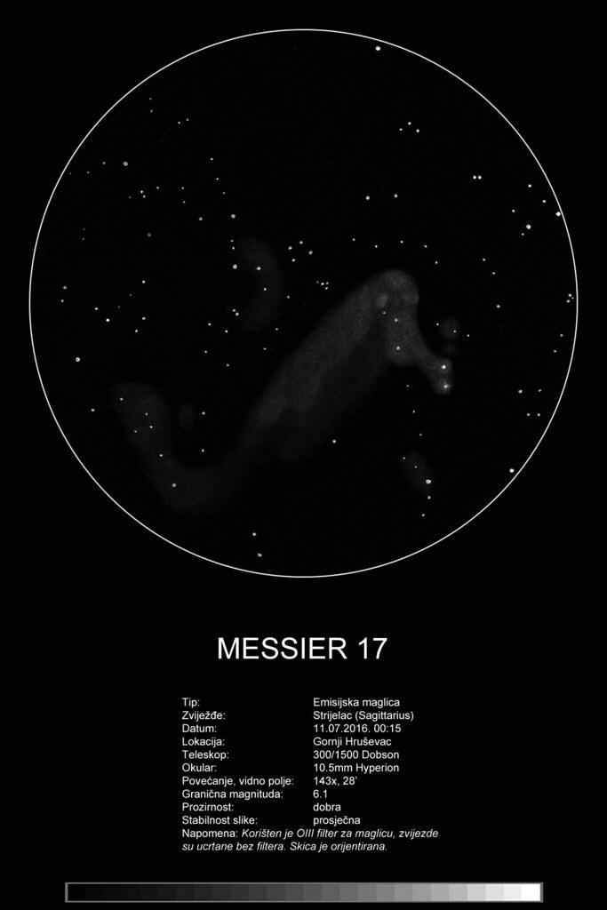 Messier 17 - sketch