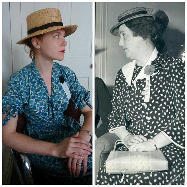 Happy #Halloween! Today, I am Martha B. #Taft, wife of Robert and first president of the #Cincinnati League of Women Voters. #ootd #1940s #vintageclothing #hats #Republicanpinup