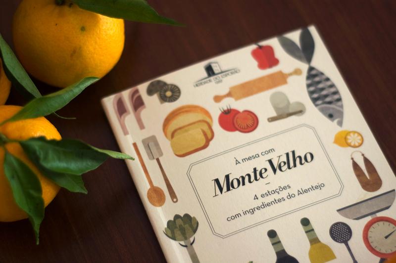 livro À mesa com Monte Velho