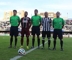 TRÍO ARBITRAL Y CAPITANES DEL FC CARTAGENA CÓRDOBA B (3)