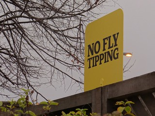 No Fly Tipping . Leave them alone!