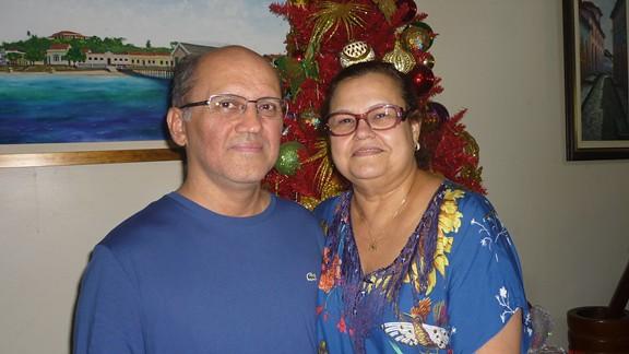 O casal de médicos Carlos e Walda Martins