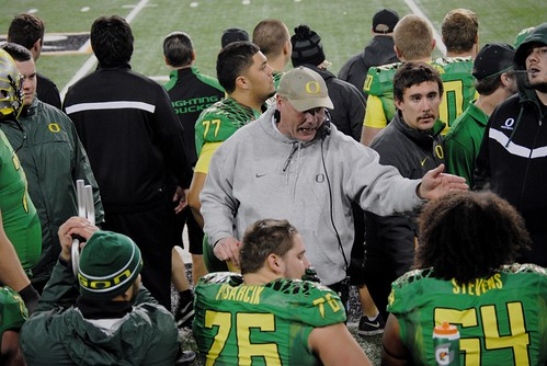 Ducks O-Line gets Some Instruction