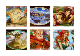 free The Naughty List slot game symbols