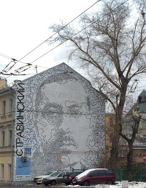 Igor Stravinsky on Bolshaya Polianka