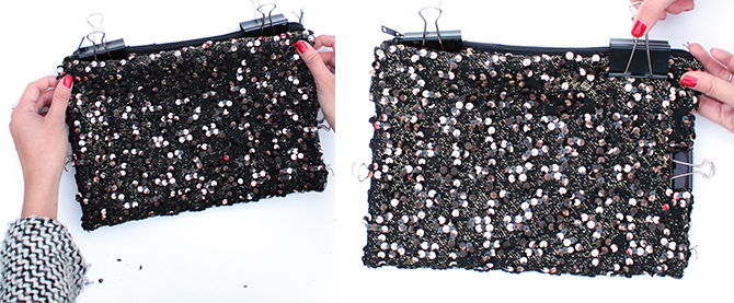 DIY sequin clutch 3