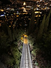 Mtatsminda funicular at night