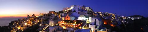 travel sunset sea panorama night nikon mediterranean mediterraneo tramonto mare village aegean santorini greece grecia viaggi stitched notte oia cyclades cicladi villaggio egeo