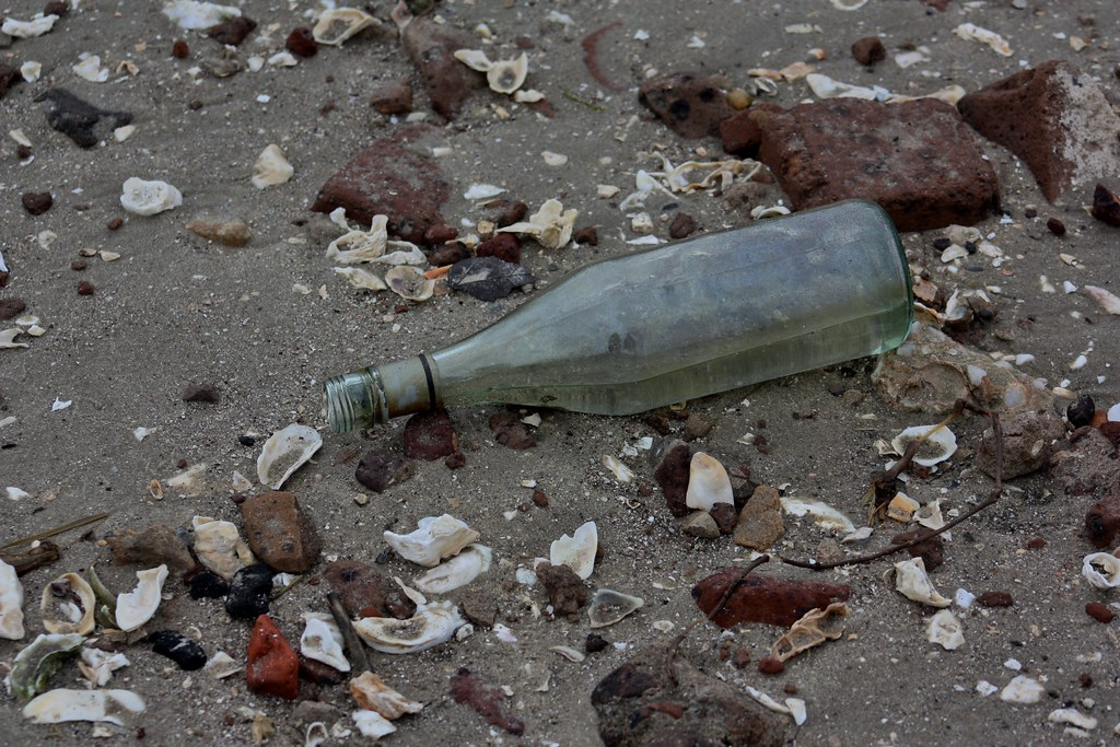 Fort Sumter Bottle on the beach