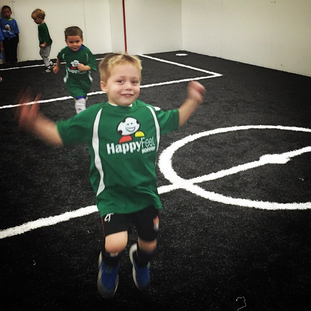 First game, first goal, first celebration! Tate has entered the soccer world ???? #soccer #firstgame #celebrate #goal