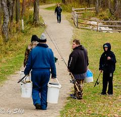 Fishermen at Chagrin River Park