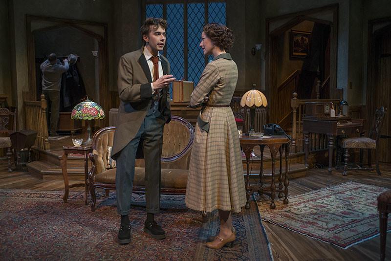 Joey deBettencourt (Christopher Wren) and Cora Vander Broek (Mollie Ralston)