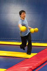Trampoline Dodgeball!